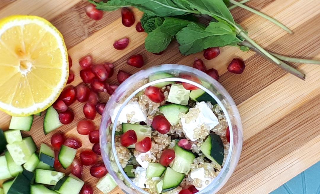 Salade de quinoa feta et grenade