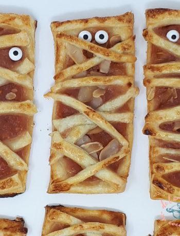 Tarte aux pommes en forme de momie pour Halloween