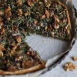 Tarte aux épinards, champignons et ricotta
