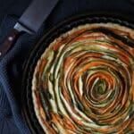 Tarte spirale courgettes et carottes