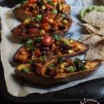 Patates douces farcies à la mexicaine