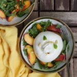Salade de nectarines grillées, roquette & burrata