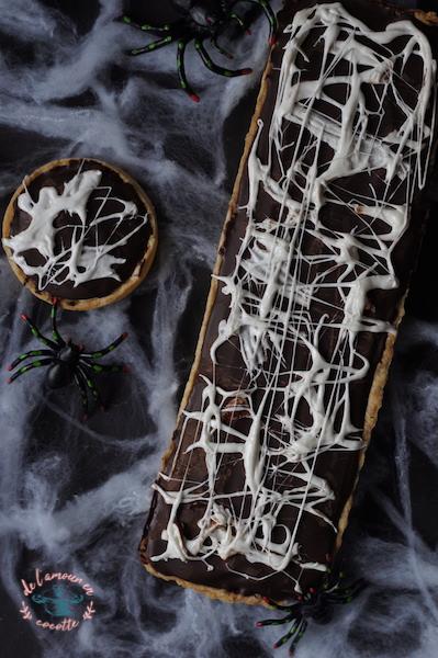 Tarte choco-guimauve Halloween