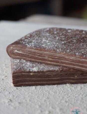 Pâte feuilletée cacao