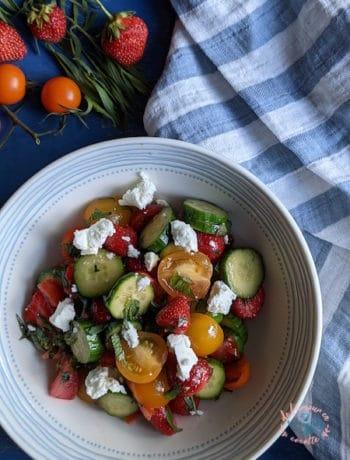 Salade de tomates et fraises